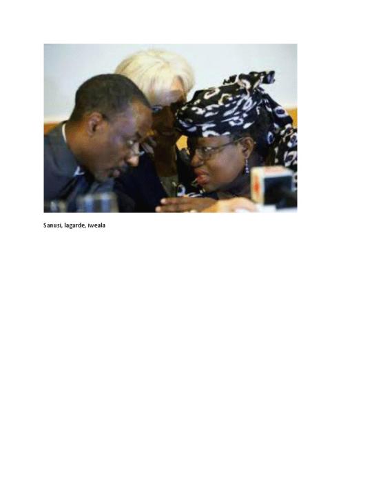 L-R: CBN's Sanusi, IMF's ChristineLagarde & Economy Czarina Okonjo Iweala