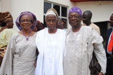 L to R:  Mrs. Peju and Professor Femi Odesanmi with Celebrant