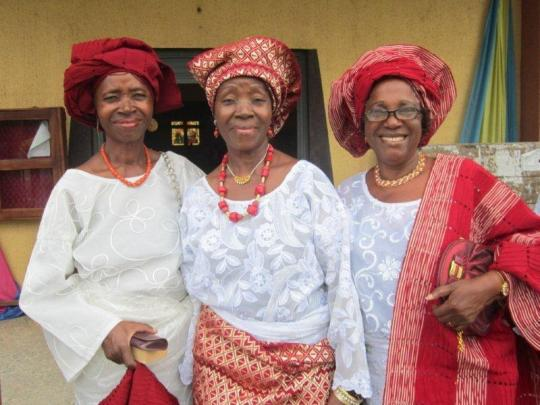 Tola (Blogger); Ayo (retired Senior Deputy Registrar, Univ. of Lagos & Olori Ronke Olugbemigun (Retired Manager, U.T.C. Stores, Ibadan & Lagos/Apapa))
