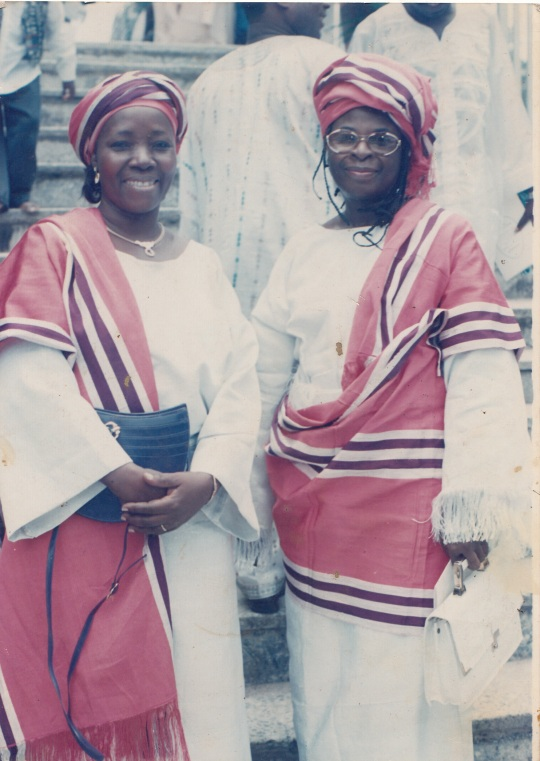 Two Friends at a Lagos wedding in the 80s