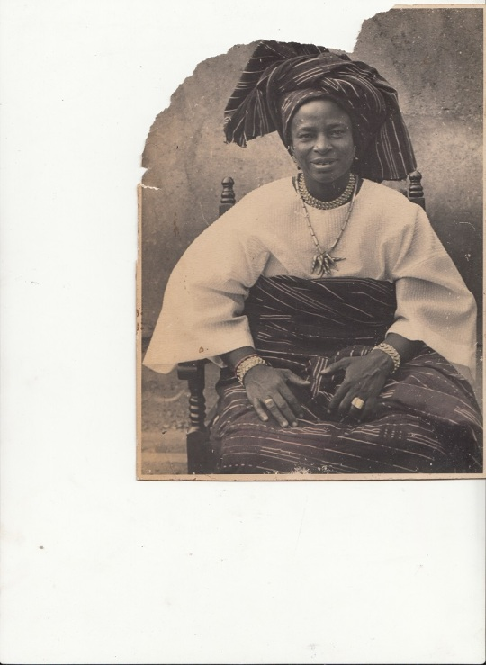 Yoruba woman dressed for a formal occasion Late 1950s