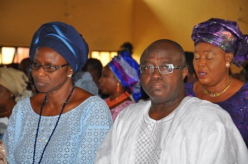 Ambassador Laleye and wife Catherine