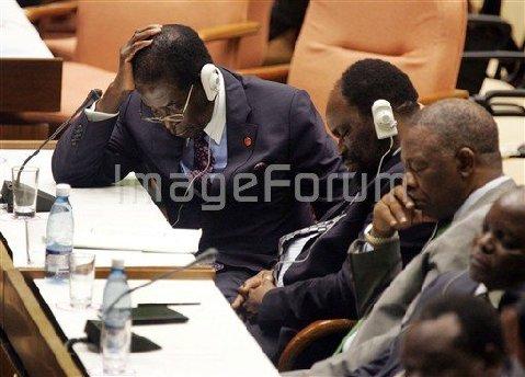 MUGABE RESTING AT UN SUMMIT