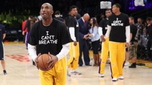 KOBE dons cant breathe