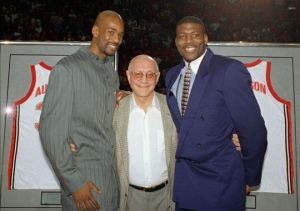Coach Tark with Stacy Augmon and Larry Johnson of the National Championship Team