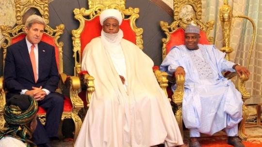 Kerry at Sultan of Sokoto